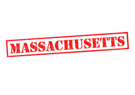 MASSACHUSETTS Rubber Stamp over a white background. photo