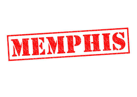 graceland: MEMPHIS Rubber Stamp over a white background.