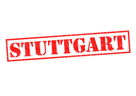 STUTTGART Rubber Stamp over a white background. photo