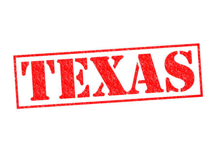 TEXAS Rubber Stamp over a white background. photo