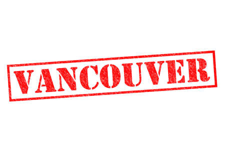 VANCOUVER Rubber Stamp over a white background. photo