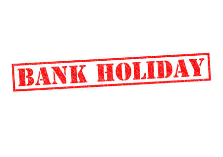 freetime: BANK HOLIDAY Rubber Stamp over a white background. Stock Photo