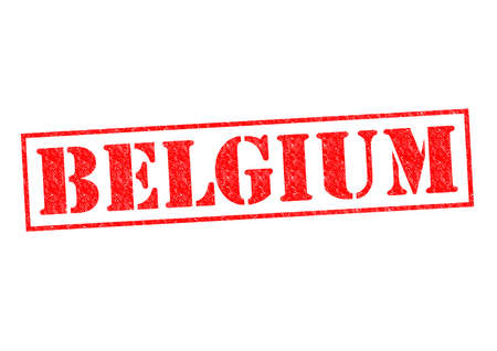 BELGIUM Rubber Stamp over a white background. photo