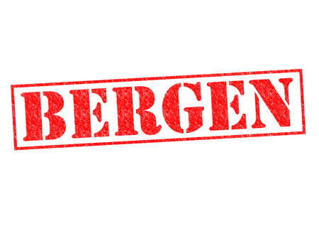 BERGEN Rubber Stamp over a white background. photo