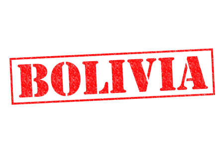 BOLIVIA Rubber Stamp over a white background. photo