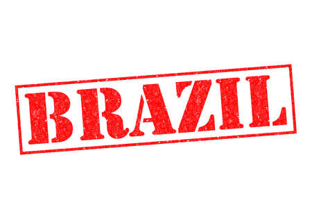 BRAZIL Rubber Stamp over a white background. photo