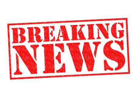 breaking news: BREAKING NEWS Rubber Stamp over a white background.