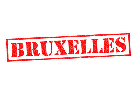 BRUXELLES Rubber Stamp over a white background. photo