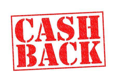 Cash Back Rubber stempel op een witte achtergrond. Stockfoto
