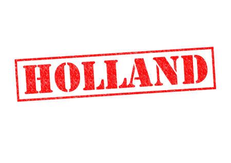 HOLLAND Rubber Stamp over a white background. photo