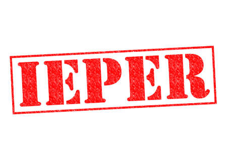 ypres: IEPER Rubber Stamp over a white background.