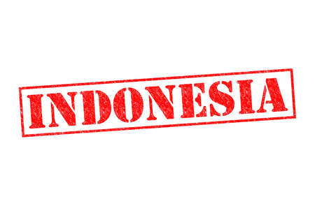 oceana: INDONESIA Rubber Stamp over a white background.
