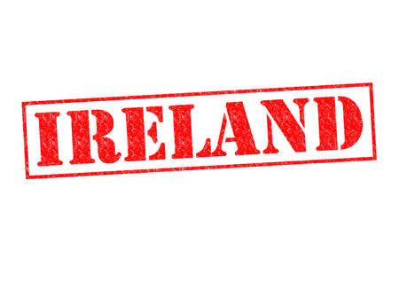 IRELAND Rubber Stamp over a white background. photo