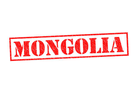 MONGOLIA Rubber Stamp over a white background. photo