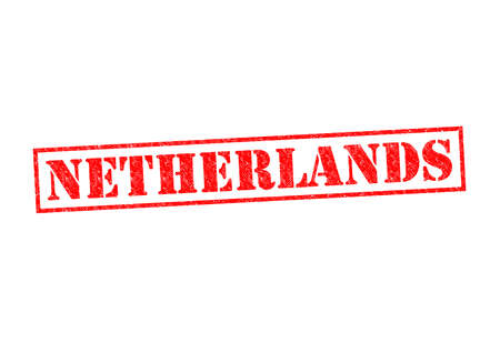 NETHERLANDS Rubber Stamp over a white background. photo