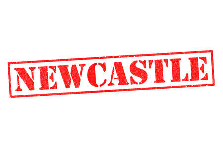 NEWCASTLE Rubber Stamp over a white background.