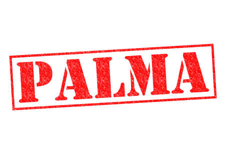 PALMA Rubber Stamp over a white background. photo