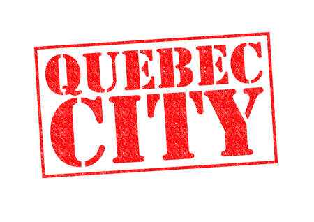 QUEBEC CITY Rubber Stamp over a white background. photo