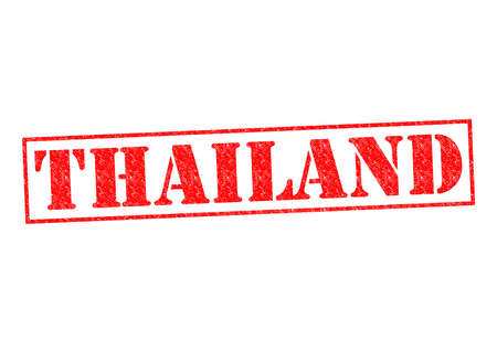 THAILAND Rubber Stamp over a white background. photo