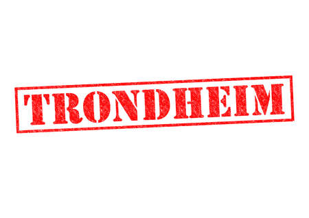 TRONDHEIM Rubber Stamp over a white background. photo