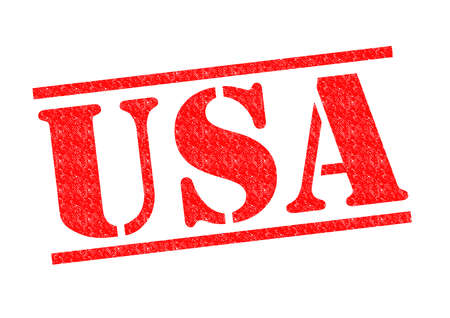 USA Rubber Stamp over a white background. photo