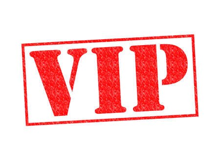 VIP Rubber Stamp over a white background. photo