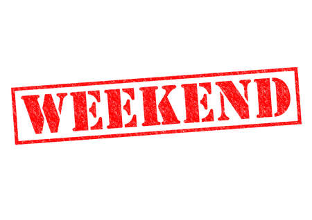 WEEKEND Rubber Stamp over a white background. photo