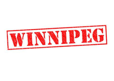 winnipeg: WINNIPEG Rubber Stamp over a white background.