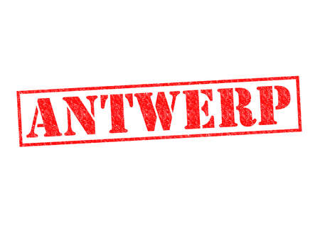 ANTWERP Rubber Stamp over a white background. photo