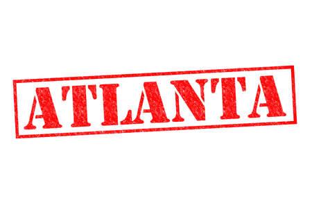 atlanta tourism: ATLANTA Rubber Stamp over a white background.