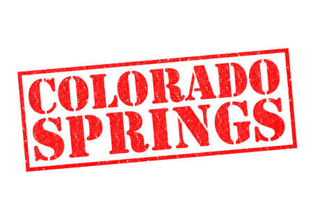 capital of colorado: COLORADO SPRINGS Rubber Stamp over a white background. Stock Photo