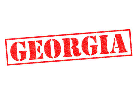 GEORGIA Rubber Stamp over a white background. photo