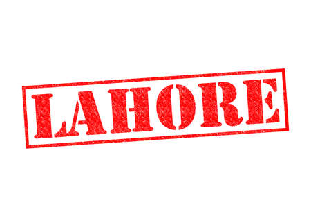 LAHORE Rubber Stamp over a white background. Stock Photo - 22651663