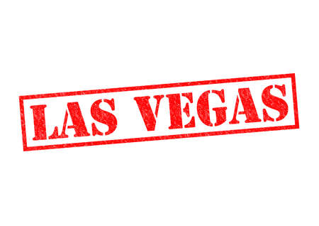 LAS VEGAS Rubber Stamp over a white background. photo