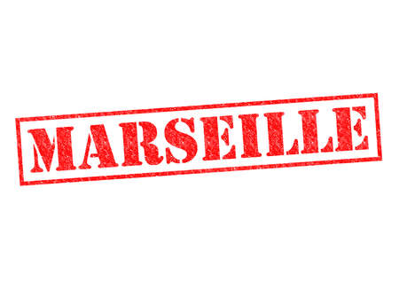 MARSEILLE Rubber Stamp over a white background. photo