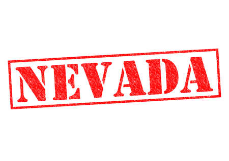 NEVADA Rubber Stamp over a white background. photo