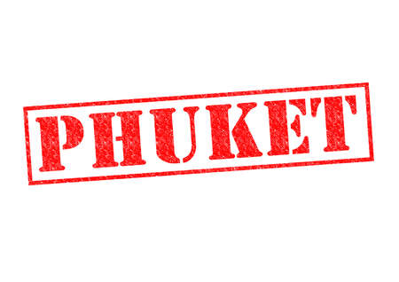 PHUKET Rubber Stamp over a white background. photo