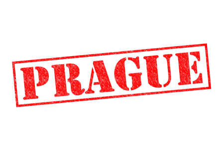 PRAGUE Rubber Stamp over a white background. photo