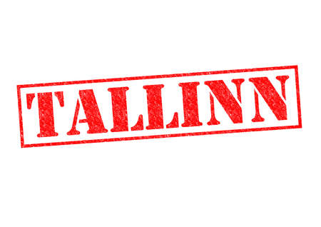 TALLINN Rubber Stamp over a white background. photo