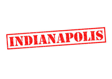 indianapolis: INDIANAPOLIS Rubber Stamp over a white background.