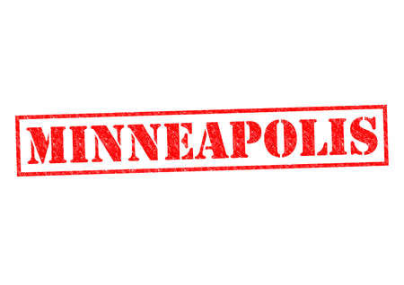 MINNEAPOLIS Rubber Stamp over a white background. photo