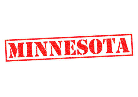 MINNESOTA Rubber Stamp over a white background. photo