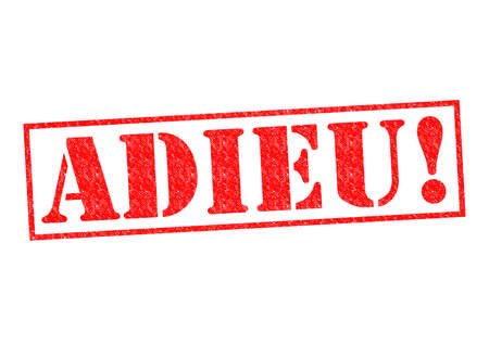 ciao: ADIEU! Rubber Stamp over a white background. Stock Photo