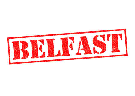 irish cities: BELFAST Rubber Stamp over a white background.