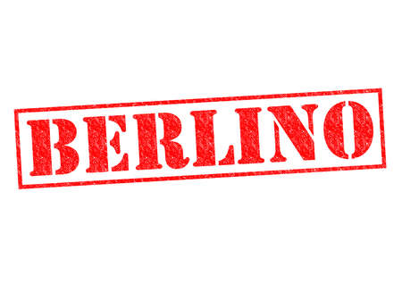 BERLINO (Berlin) Rubber Stamp over a white background. photo