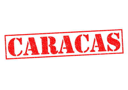 caracas: CARACAS Rubber Stamp over a white background. Stock Photo