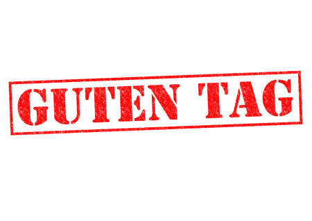guten tag: GUTEN TAG Rubber Stamp over a white background. Stock Photo