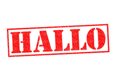 hallo: HALLO Rubber Stamp over a white background.