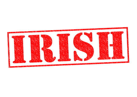 irish cities: IRISH Rubber Stamp over a white background. Stock Photo