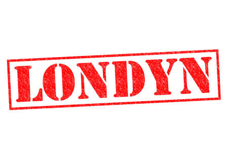 LONDYN (London) Rubber Stamp over a white background. photo